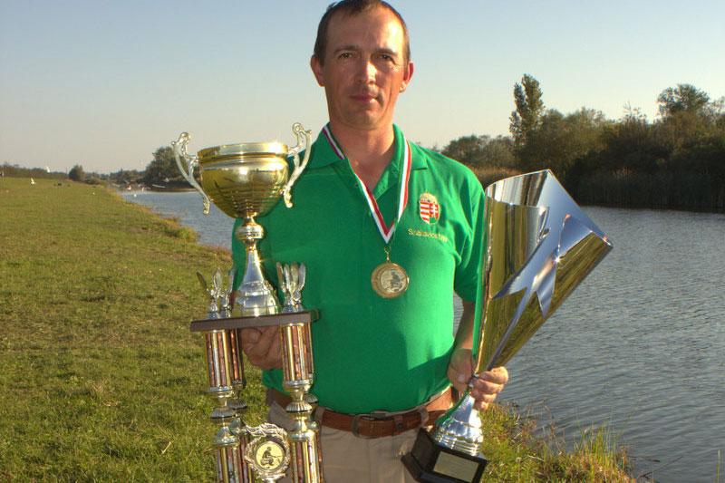 Szákovics Imre az újdonsült magyar horgászbajnok